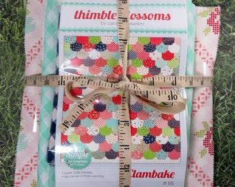 Clambake Quilt Pattern Fabric Kit - Moda - Bonnie & Camille - Vintage Picnic - Thimble Blossoms LAP Quilt