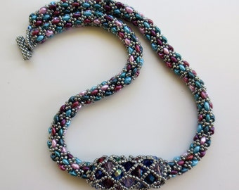 Rope Necklace with Focal