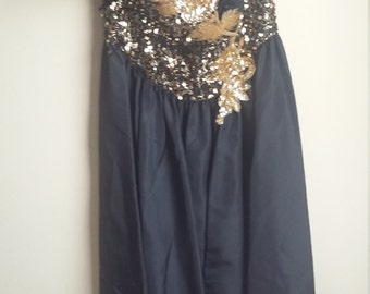 80s strapless party dress