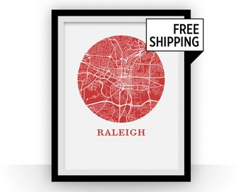 Raleigh Map Print - City Map Poster