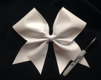Big blank autograph cheer bow