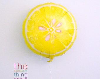 "18"" lemon balloon party supplies decorations picnic bbq food theme pool party birthday lemonade summer fruit yellow"
