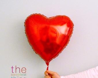 "18"" mylar heart balloons (set of 5)"