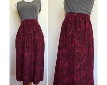 A-line High Waist Skirt