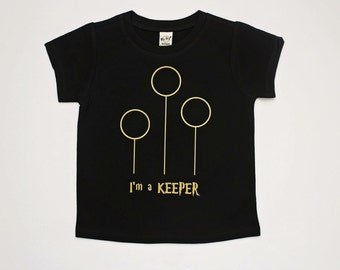 I'm a Keeper Quidditch tee for infants/toddlers/children