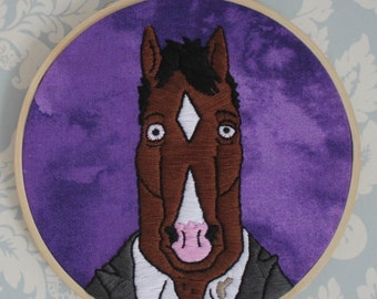 MADE TO ORDER: Drunk BoJack Embroidery