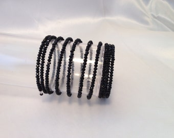 0127 ~ Black spiral bracelet
