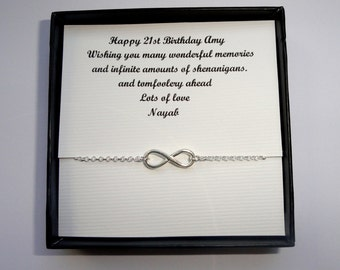Own message Sterling silver Infinity bracelet gift, Friendship gift, Infinity bracelet, Bridesmaids gifts, Infinity jewelry