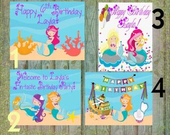 Mermaid Birthday Sign, Buy one get one free