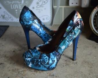 Custom Made to Order Nightwing Heels