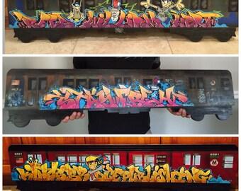 Custom  4 FT graffiti subway train.