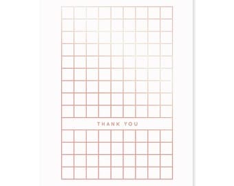 Gold greeting gift card» Thank you»