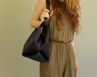 Blue Tote Bag \ Blue Shoulder Bag, Tote, Mikuya