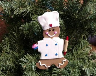 Gingerbread baker ornament