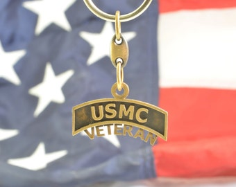 USMC Veteran Key Chain