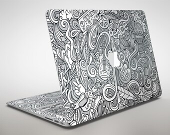 Hippie Dippie Doodles - Apple MacBook Air or Pro Skin Decal Kit (All Versions Available)
