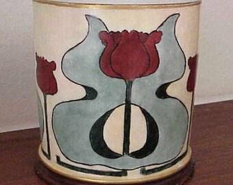 RARE Art Nouveau Hand Painted Porcelain Cup/Mug by Jean Pouyat Limoges 1805