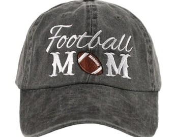 Football Mom Hat ~ Football Mom Baseball Hat ~ Football Hat ~ Super Cute