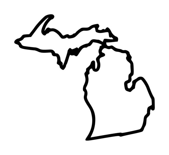Michigan tattoo state outline tattoo temporary by insanityink for State outline tattoo