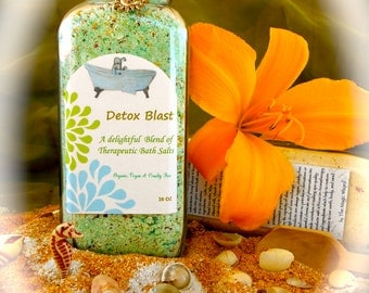 DETOX BLAST Aromatherapy Bath Salts ~  16 oz ~ Sale + Reduced S/H