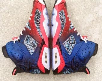 Full custom Jordan 6 shoes - You pick design