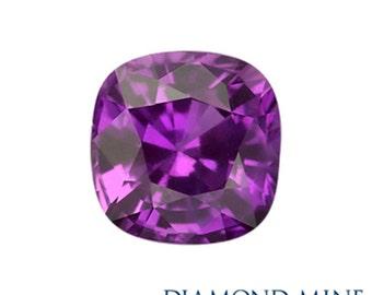 A Beautiful NaturalSapphire 1.63 Purple Cushion AAA