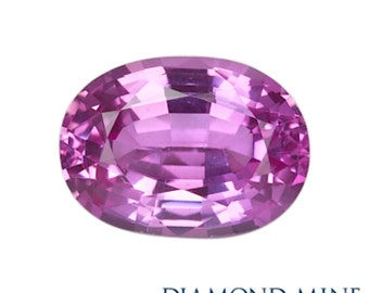 A Beautiful NaturalSapphire 1.14 Pink Oval Extra