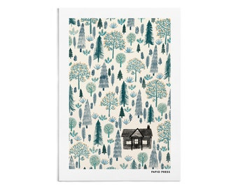 The Log Cabin - A4 or A3 Artists Print