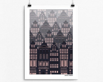 Brussels  - A4 Artists Print