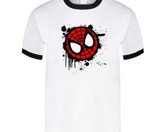Spiderman - Paint Splatter White T Shirt