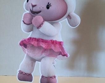 Doc Mcstuffins- Lambie or Stuffy double sided centerpieces