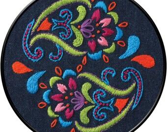 Bohemian Paisley Embroidery Kit