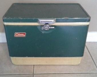 Vintage Coleman Green Cooler