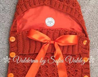 Baby Cocoon Orange* Knit* Crochet (NEWBORN)