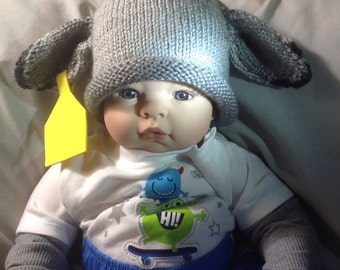 Knit Baby Brahman, Brahma, cow calf hat