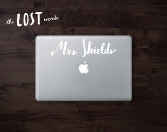 Personalized Mrs. BY HAND Vinyl Decal