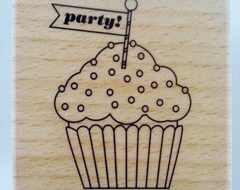 "Block Stamp - ""Cupcake Party"""