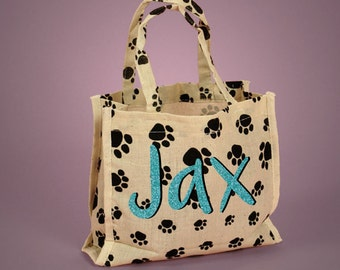 Customized & Personalized Paw Print Cotton Tote Bag