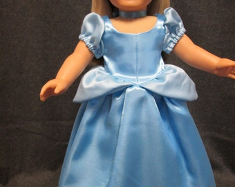 "Cinderell Dress for American Girl or 18"" Doll"