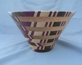 Wooden vase, segmented woodturning, ,home decor, unique