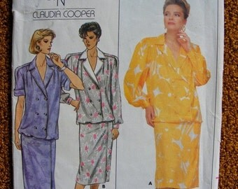 51% OFF Misses' Pullover Dress 1980's Jean Nidetch for Claudia Cooper Uncut Butterick Sewing Pattern 3793 Size 20 22 24