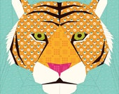 Tiger- A 20 Inch Foundation Paper Pieced Pattern