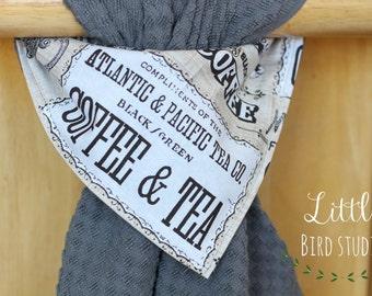 Hanging Kitchen Towel, Hanging Hand Towel, Coffee Bar, Grey Towel, House Warming Gift, Hostess Gift, Bridal Shower Gift,