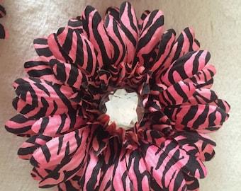 Peach Zebra Gerbera Flower Hair Clip