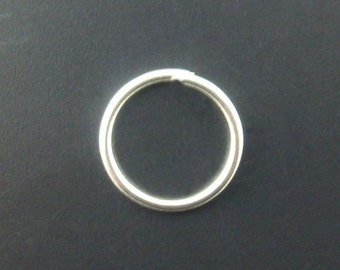 100 - 9mm Silver Plated Jump Rings