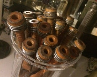 Set Of Twelve Vintage Wood Spools, More are Available