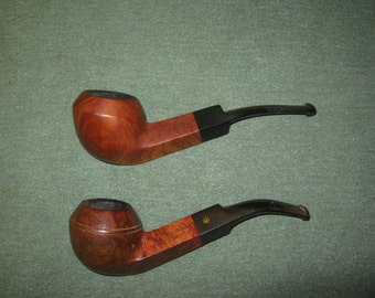 2 Bent Bulldog Briar Estate Pipes Yorkshire Algerian Briar France & Unmarked both need cleaned or refurbished