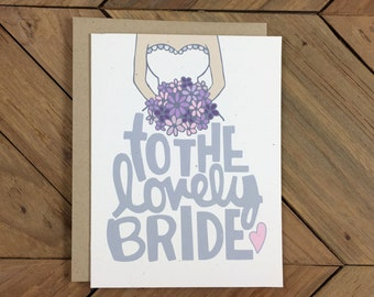 Bridal Shower Card - To The Lovely Bride