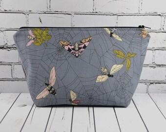 Moth Make Up Bag, Moth Cosmetic Bag