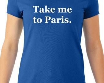 "Burn Notice "" Take me to Paris"" Fiona :Women's Tee"